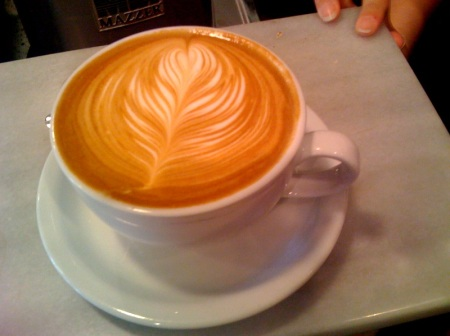 Latte Art at Peregrine Espresso